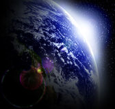 Earth in space Stock Image