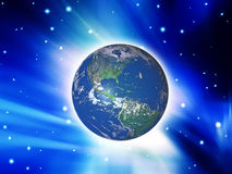 Earth in the space Stock Photography