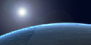 Earth from space. 3DS Max and Photoshop image of the earth from space Royalty Free Stock Image
