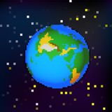 The earth in space. Vector illustration of a planet Earth in space Royalty Free Stock Image