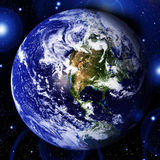 Earth in space Stock Images