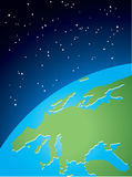 Earth in space. Vector illustration Royalty Free Stock Image