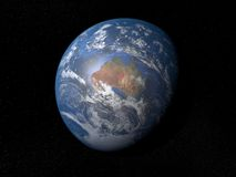Earth from space Australia with clouds Royalty Free Stock Photography