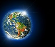 Earth from Space. Best Internet Concept of global business from concepts series. Elements of this image furnished by Royalty Free Stock Photo
