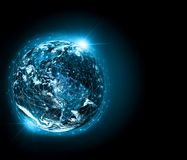 Earth from Space. Best Internet Concept of global business from concepts series. Elements of this image furnished by Stock Photo