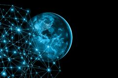 Earth from Space. Best Internet Concept of global business from concepts series. Elements of this image furnished by Stock Photography