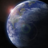 Earth from space. Detailed image. Stock Photo