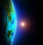 Earth from space Stock Image