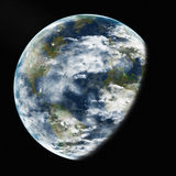 Earth from space. Elements of this image furnished by NASA. Royalty Free Stock Images