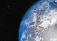 Earth in space. Elements of this Image Furnished by NASA Stock Photography