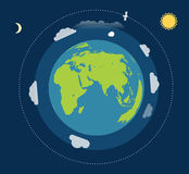 Earth in a space Stock Images