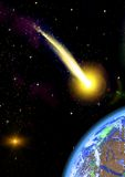 Flying asteroid Stock Images