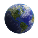 Earth from space isolated on white background. Royalty Free Stock Image
