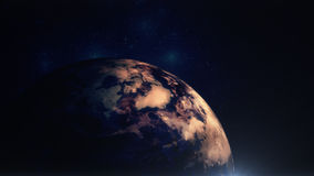 Earth in Space with Light Flare Stock Photography