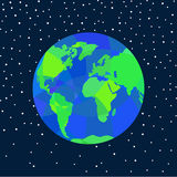 Earth in space. Stock Photo