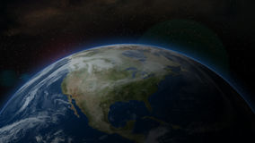 Earth from Space, North America - Animation Royalty Free Stock Images