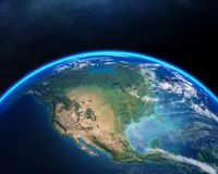 Earth from space North America stock image