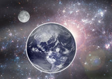 Earth in the space. Stock Photography