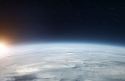 Earth from the space royalty free stock photos