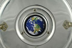 Earth from space ship Royalty Free Stock Photos