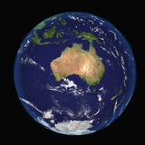 The Earth from space showing Australia and Indonesia. Extremely detailed image including elements furnished by NASA. Other orienta stock illustration