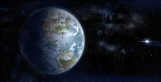 The Earth from space on a star field backdrop Stock Photography