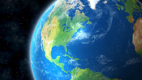 Earth From Space View of North America. Planet Earth view of North America from Space showing the United States, Canada, Mexico and Caribbean Royalty Free Stock Images
