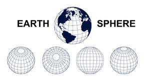 Earth Sphere. Structure Vectore EPS Royalty Free Stock Image