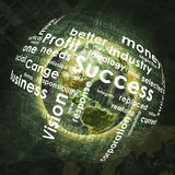 Earth, sphere consists business words and graphs. On money background. Elements of this image are furnished by NASA Royalty Free Stock Photo
