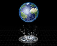 Earth Splash Stock Image