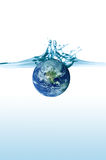 Earth Splash Royalty Free Stock Photography