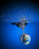 Earth Splash Royalty Free Stock Photo