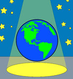 Earth in the spotlight Royalty Free Stock Photo