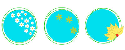 Earth and spring. Icon, Logo. Stock Images