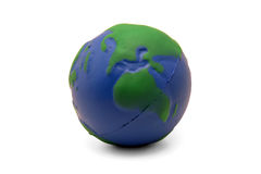 Earth Squeeze Ball (II). Earth shaped stress squeeze ball (Europe and Africa Stock Photos