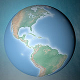 Earth standing on clean space Royalty Free Stock Photography