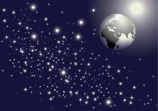 Earth & stars Stock Image