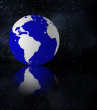 Earth and stars Royalty Free Stock Image