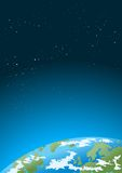 Earth and stars Royalty Free Stock Images