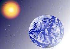 Earth stars and sun Stock Image