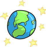 Earth and stars Vector Royalty Free Stock Photos