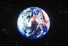 Earth and stars viewed from space Royalty Free Stock Images