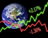 Earth Stock Market Numbers Stock Photo