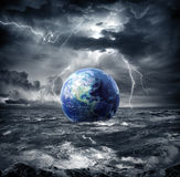 Earth in the storm. Apocalypse in Usa Royalty Free Stock Photos