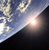 Earth and Sun Royalty Free Stock Photos