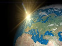 Earth and sun royalty free stock photography