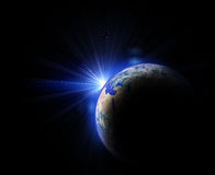 Earth and sun Royalty Free Stock Photo