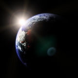 Earth and Sun Royalty Free Stock Images