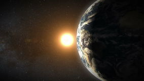 Earth and Sun stock footage