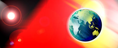 Earth and sun illustration Royalty Free Stock Photography
